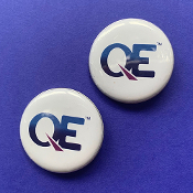 2 x QE Pin-Back Button