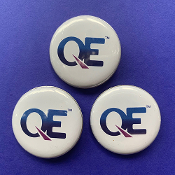 3 x QE Pin-Back Button
